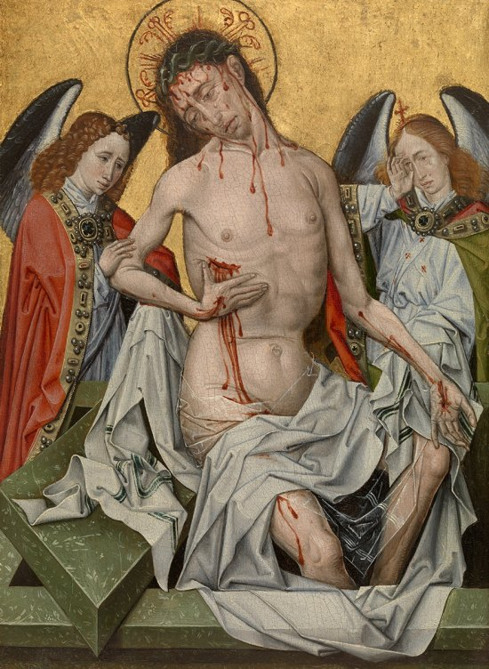 Robert Campin 'The Man of Sorrows' (c.1430)