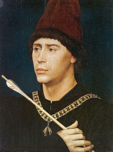 Rogier van der Weyden 'Portrait of Antoine, 'Grand Bâtard' of Burgundy' (c.1460)