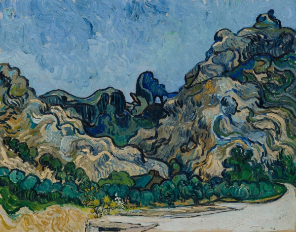 Vincent van Gogh 'Mountains at Saint-Remy' (1889)