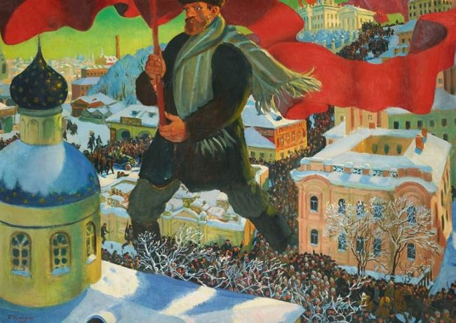 Boris Kustodiev 'The Bolshevik' (1920)