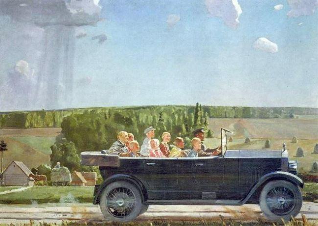 Alexander Deineka 'Lenin on an outing with Children' (1938)