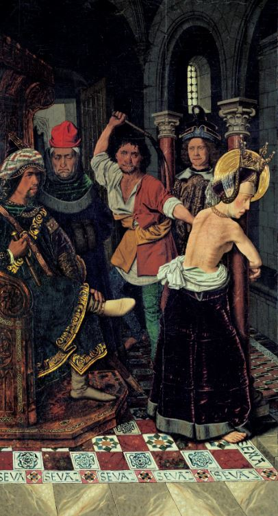 Bermejo 'Flagellation of Saint Engracia' (c.1474 - 77)