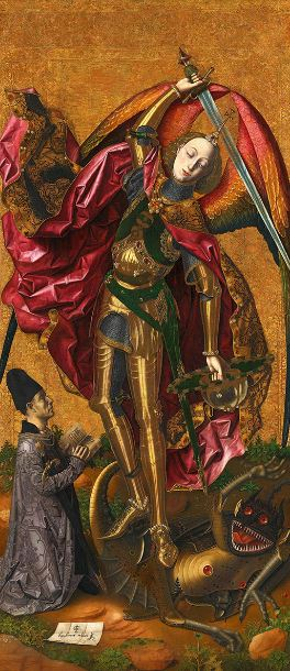 Bermejo 'Saint Michael triumphant over the Devil' (1468)