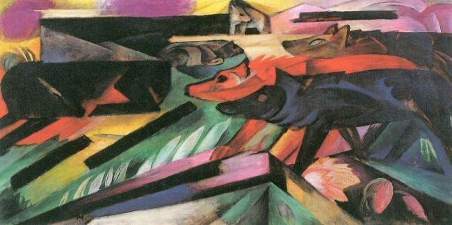 Franz Marc 'The Wolves (Balkan War)' (1913)