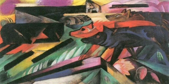 Franz Marc 'The Wolves (Balkan War)' (1913)