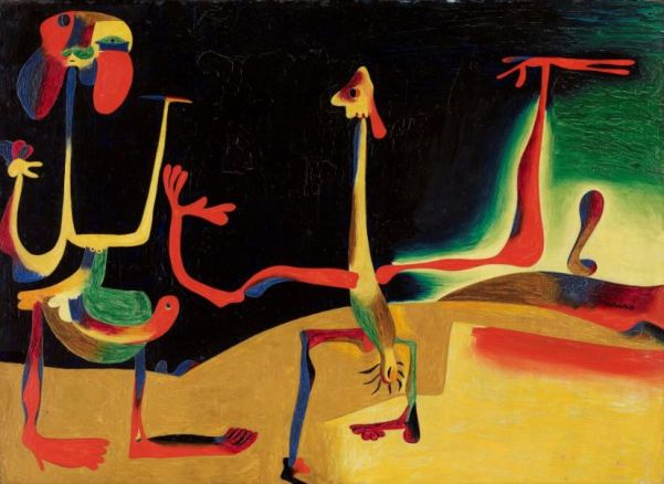 Miro 'Man and Woman in front of a pile of Excrement' (1935)