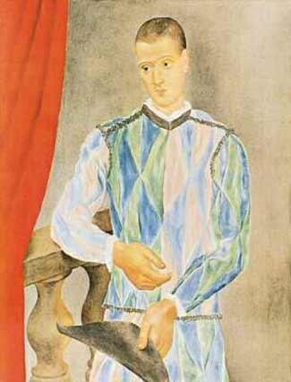 Picasso 'Harlequin (Léonide Massine)' (1917)