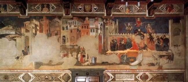 Ambrogio Lorenzetti 'The Effects of Bad Government' (1338 - 39)