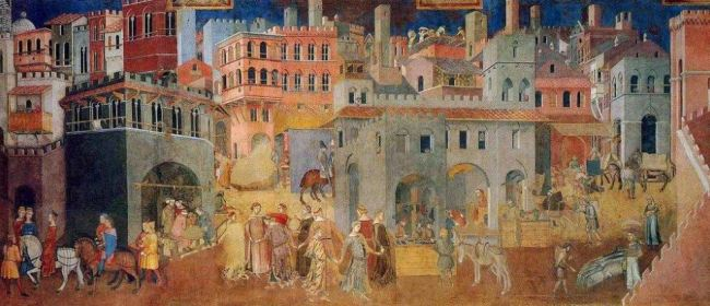 Ambrogio Lorenzetti 'The Effects of Good Government' (1338 - 39)