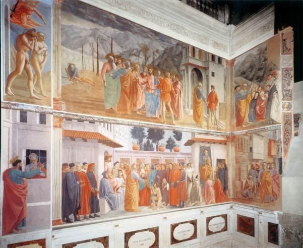 Frescoes in the Brancacci Chapel, Santa Maria del Carmine, Florence (1426 - 82)