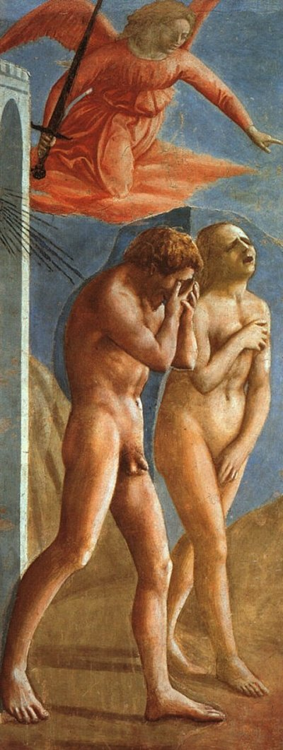 Masaccio 'Expulsion of Adam and Eve from Eden' (c.1424 - 27)