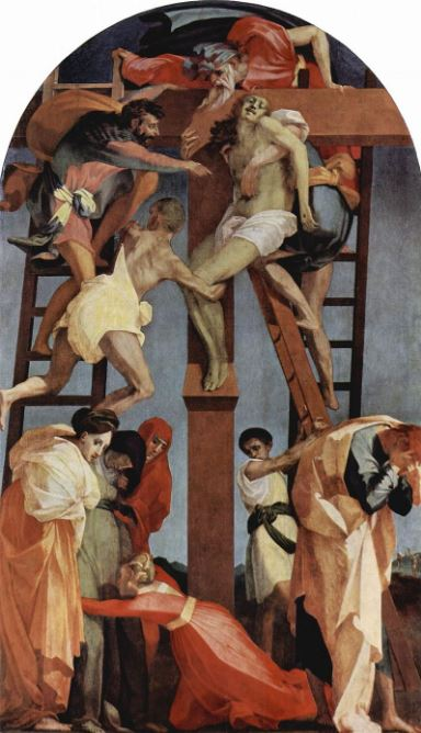 Rosso Fiorentino 'Deposition from the Cross' (c.1521) Pinacoteca Comunale, Volterra