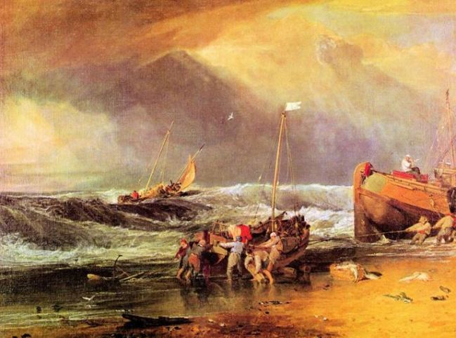 JMW Turner 'Coastal Scene with Fisherman' (c.1803 - 04)