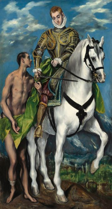 El Greco 'Saint Martin and the Beggar' (1597 - 99)