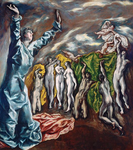 El Greco 'The Vision of Saint John' (1610 - 14)