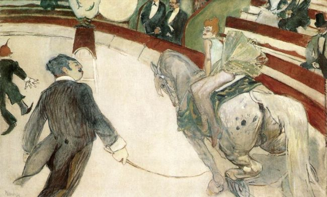 Toulouse-Lautrec 'At the Fernando Circus - the Equestrienne' (1888)