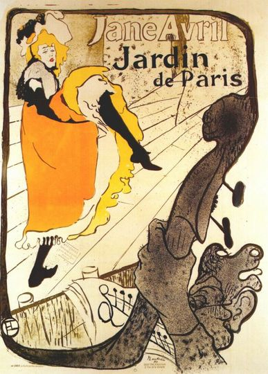 Toulouse-Lautrec 'Jane Avril at the Jardin de Paris' (1893)