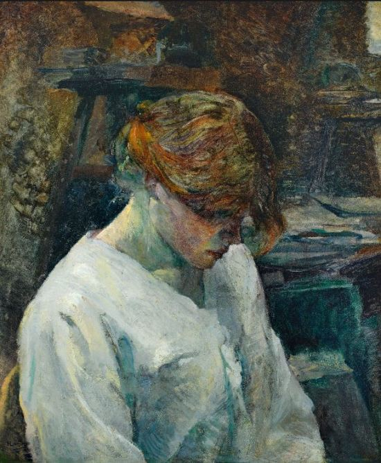 Toulouse-Lautrec 'The Redhead in a White Blouse' (1889)