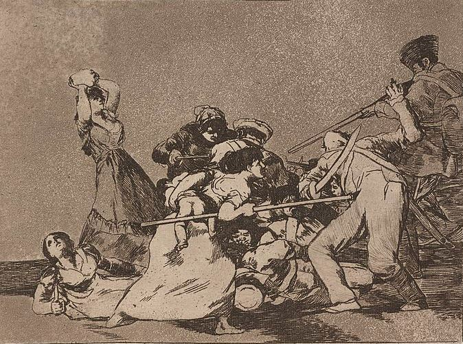 Goya 'And they are like wild beasts' (1812 - 15)