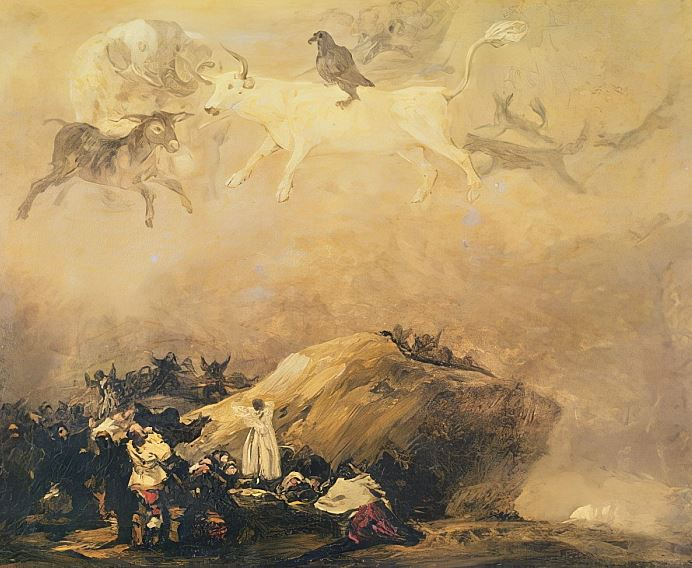 Goya 'Capricho with flying animals' (c.1818-19)