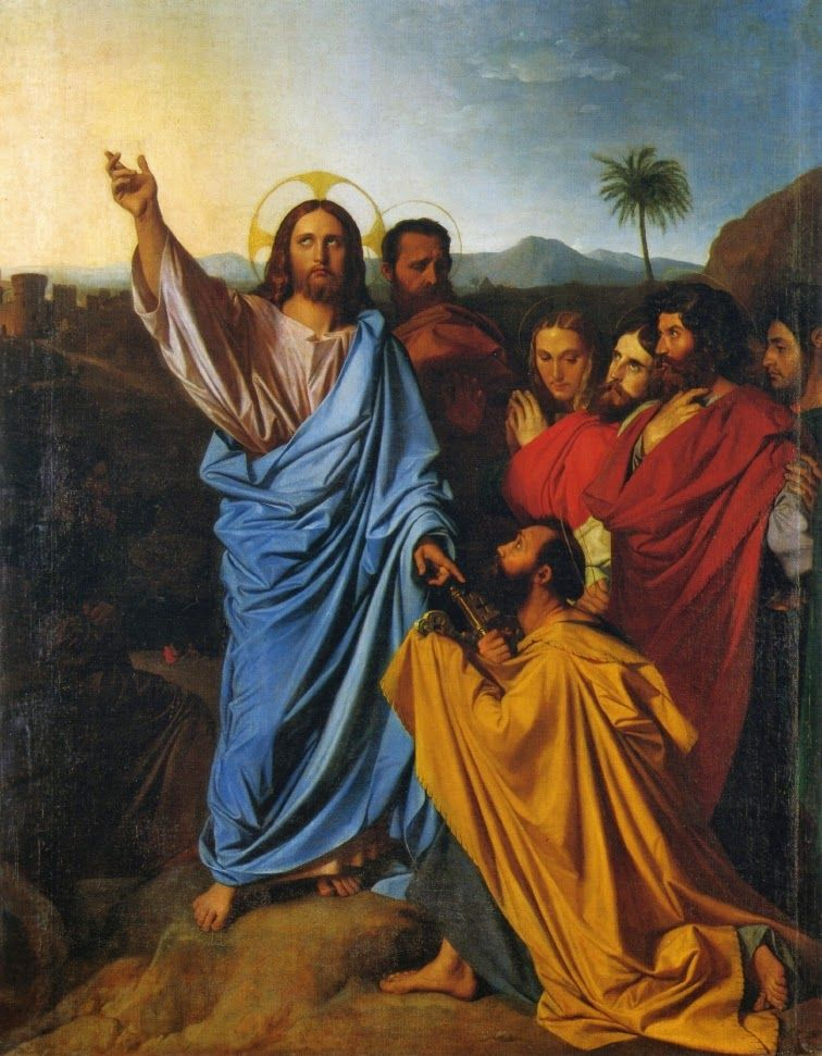Ingres 'Christ Delivering the Keys of Heaven to Saint Peter' (1820)