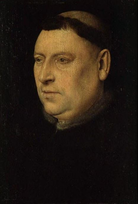 Jan van Eyck 'Portrait of a Monk' (15 century)