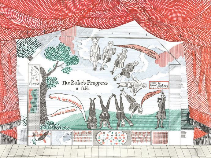 Rake's Progress Hockney design 2